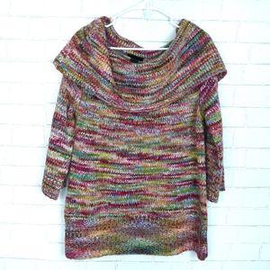 Lane Bryant Multi Color Off shoulder Sweater D92